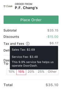 "Doordash recently changed their Doordash promo code new customers promotion from a Doordash promo code of $7 to Doordash Promo code of $15 on all first time order, not including the potential to wave the Doordash delivery fee and Doordash service fee. Doordash is one of the premier food delivery services and has a Doordash food delivery fee that ranges from free ($0) to $6.99 in my years of experience using Doordash food delivery. To qualify for a Doordash promo code free delivery, you should check out the Doordash twitter or do a quick search of Doordash promo code reddit to find additional Doordash promo codes on reddit. In addition to a Doordash food delivery fee, Doordash will also charge a ""service fee"", which varies based on the restaurant from not Doordash Delivery fee or Doordash service fee, to a $6.99 Doordash Delivery fee and 20% Doordash service fee stack on top of one another."